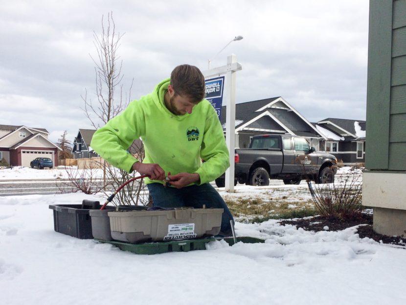 Snowy backflow test